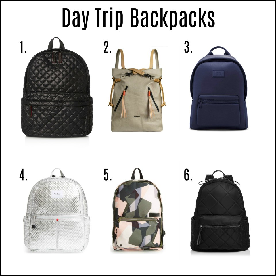 Day Trip Backpacks with Text