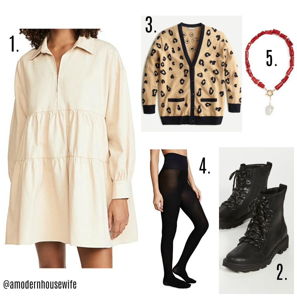 Cotton dress and combat boots