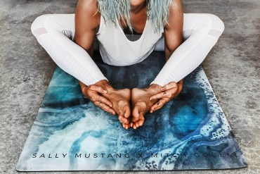 Sally Mustang, yoga mats, fashion accessories, yogi