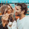 connection between love life and gut health, couple eating noodles