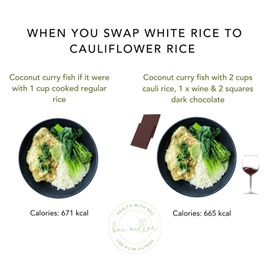 Bec Miller Founder of Health with Bec white rice swaps