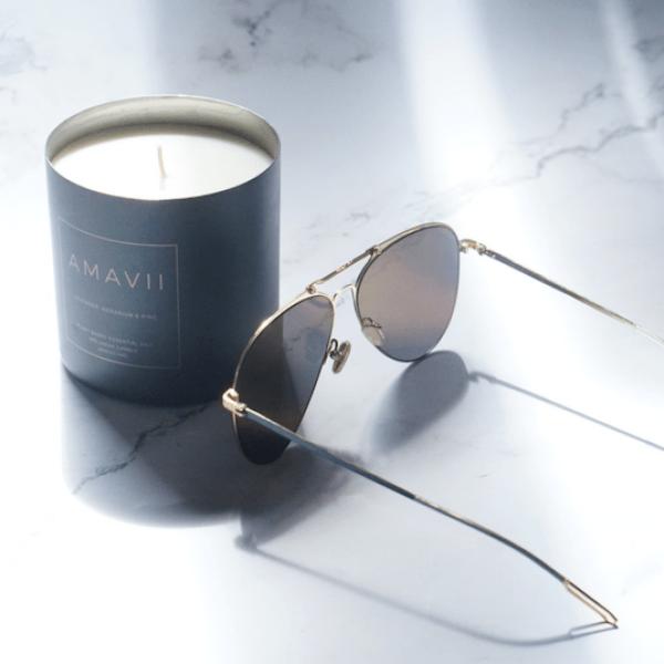 Amavii wellness candle