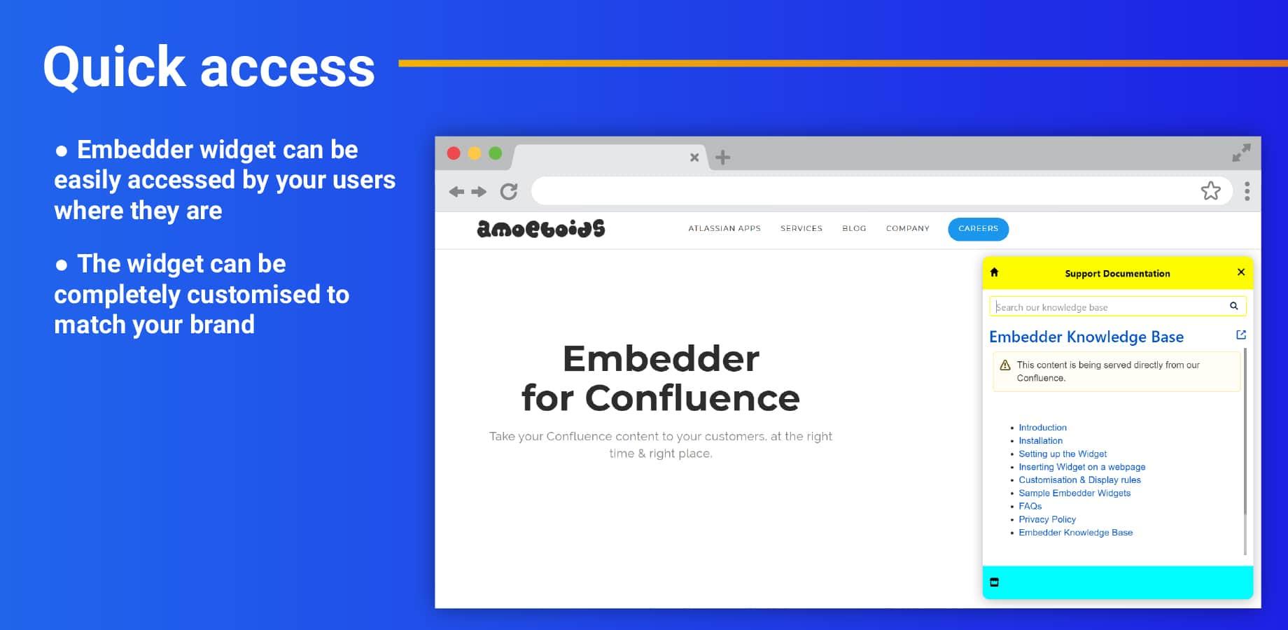 Embedder_Quick access