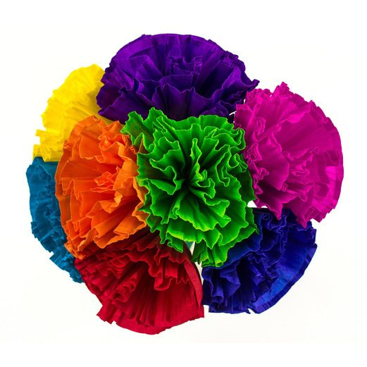 Mexican Paper Flowers   Mexican Party Supplies at Amols  Fiesta Cinco de Mayo Decorations Chayo s Flowers  4   8 per bunch Image