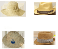 Hats: Floppy, Fedora, Boat hat, and your traditional