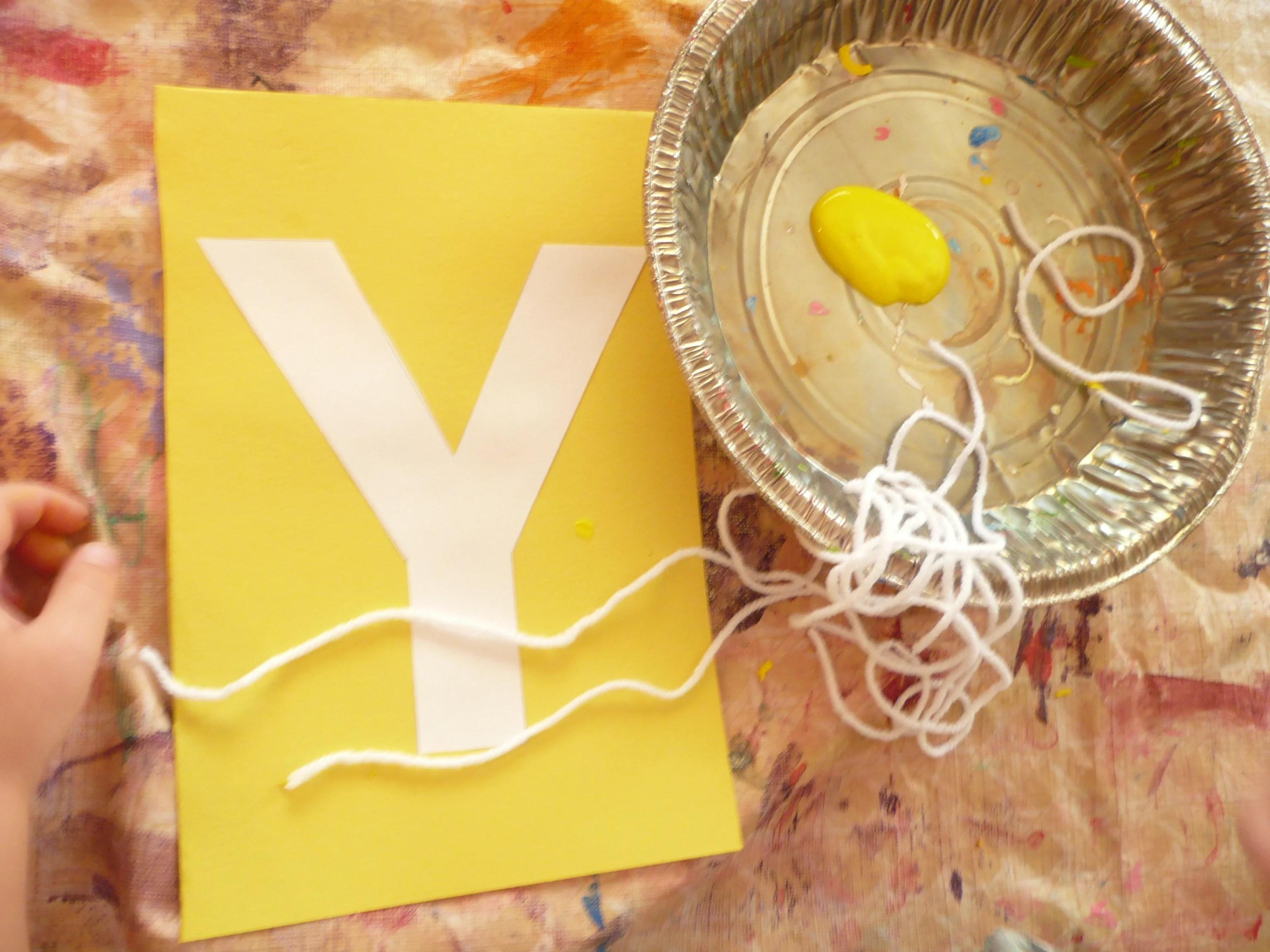 Letter Of The Week Y Yarn