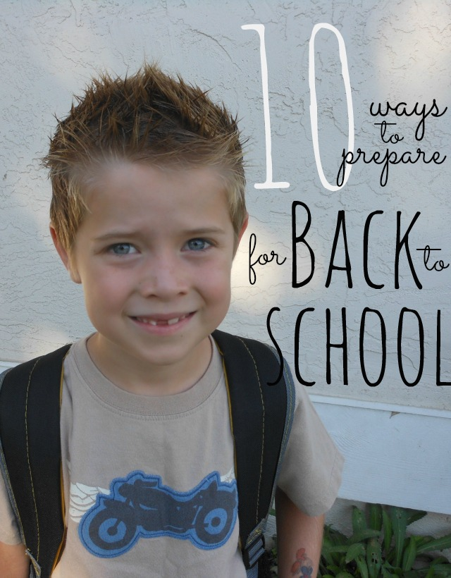 Back to school list - glad I found it!
