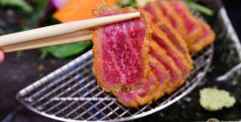 【東京美食推薦】牛かつあおな~超人氣上野美食推薦,嫩口銷魂的炸霜降和牛肉,白飯可免費續飯,近上野車站、阿美橫町