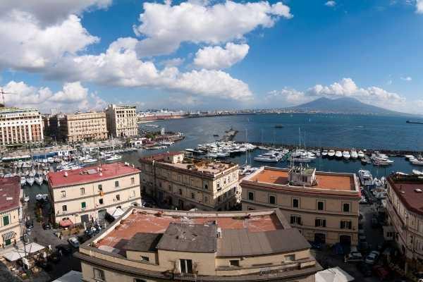 overlooking the Bay of Naples