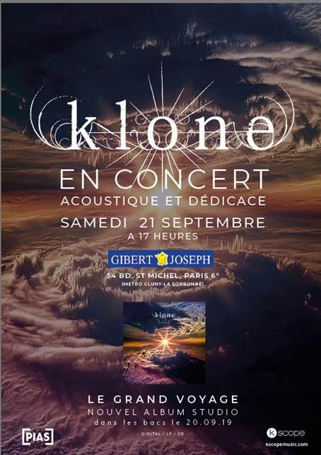 KLONE DEDICACE GIBERT PARIS - DATES DE TOURNEE
