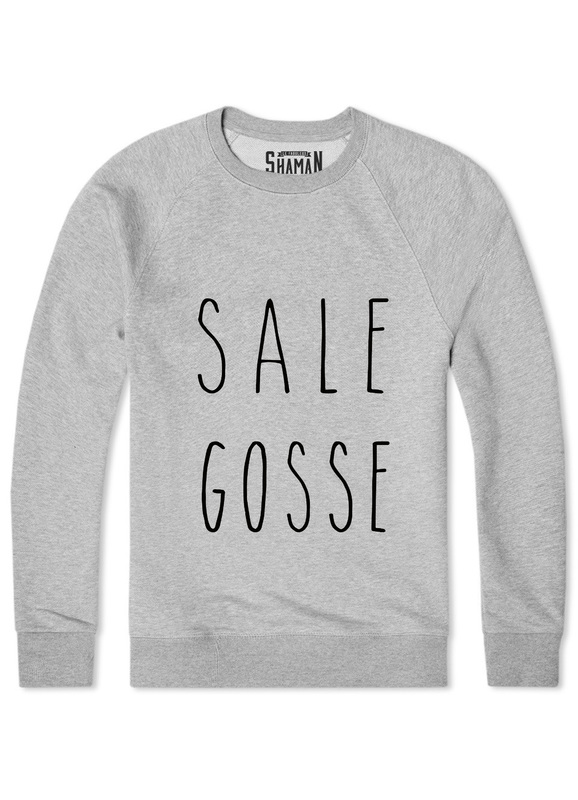 Sweat-Shirt Shaman Sale Gosse Gris
