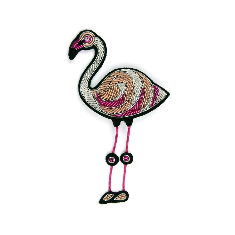 Broche Macon & Lesquoy Flamant Rose
