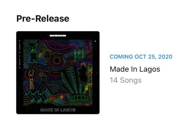 See New Release Date For Wizkid's 'Made In Lagos'