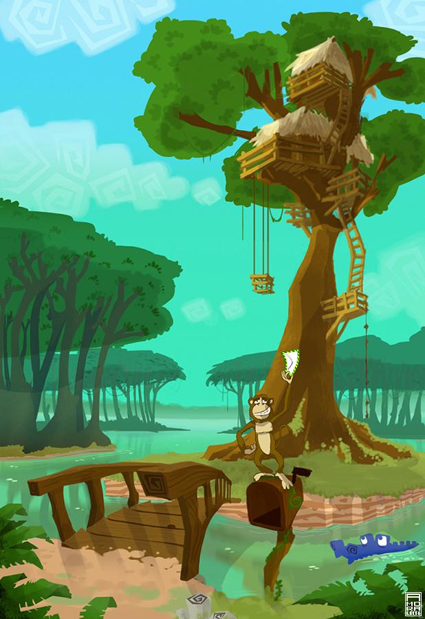 Concept Art of Amazon - Nintendo Wii (not release) (2/6)