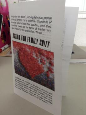 Action for Family Unity brochure