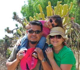 Nicole and her family in exile in Central Mexico.