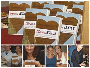Amor and Exile print version and happy readers