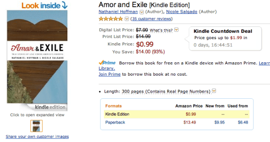 Amor and Exile 3-day Amazon Kindle Countdown Deal