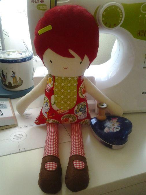 Muñeca hecha en telas preciosas