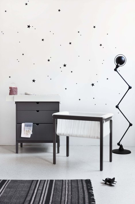 Stokke Home Cradle and Dresser 150311-B17R3140 Hazy Grey