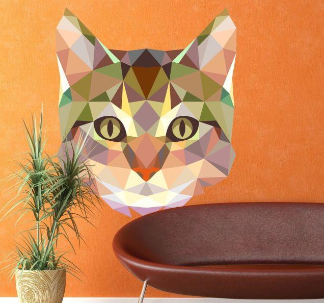 vinilo-decorativo-cara-de-gato-geometrico-5930