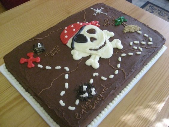 pastel pirata mapa