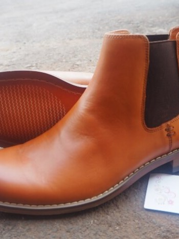 Cognac Leather Chelsea Boot
