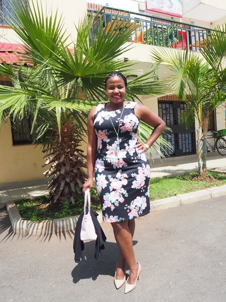 Peach and black floral Rm richards jacket dress