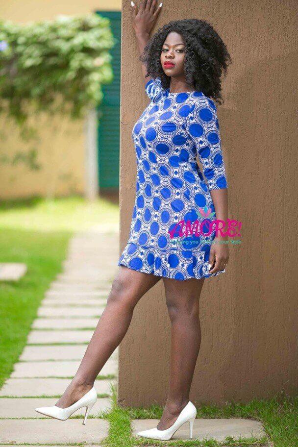 Blue white shift dress