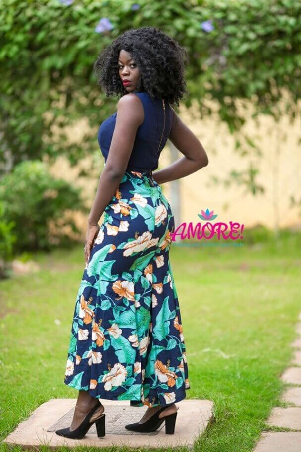 Everrich floral long dress