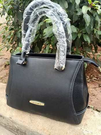 Black side croco bag
