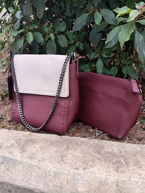 Maroon pink sling