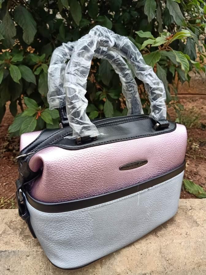 Pink blue box bag