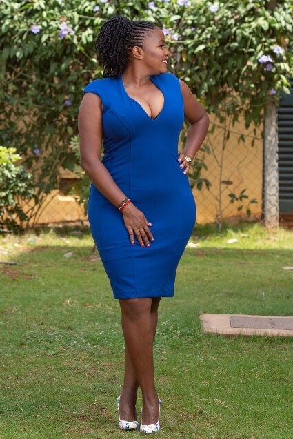 Royal blue bodycon