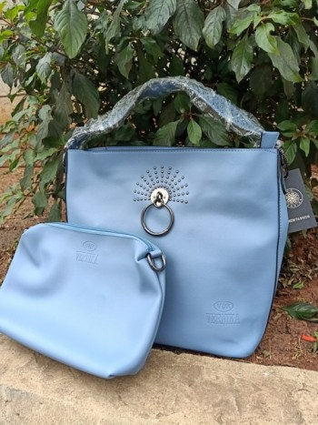 Sky blue ring bag