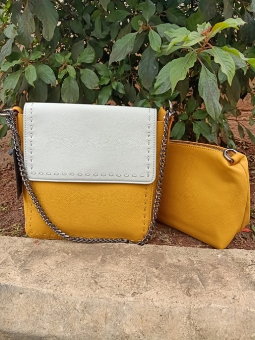 Yellow beige sling