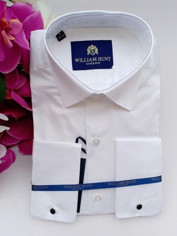 White cufflin shirt