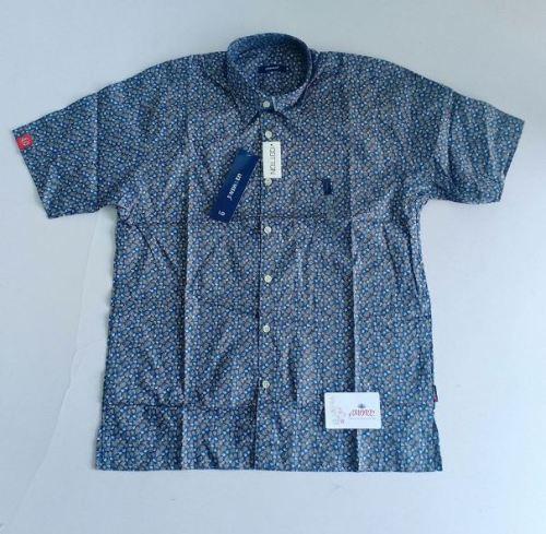 Blue grey floral shirt