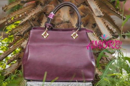 Maroon brown strap bag