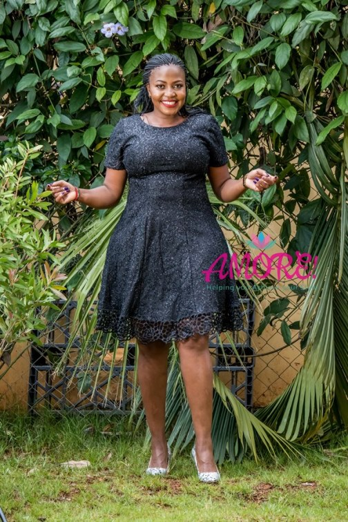 Black glitter skater dress