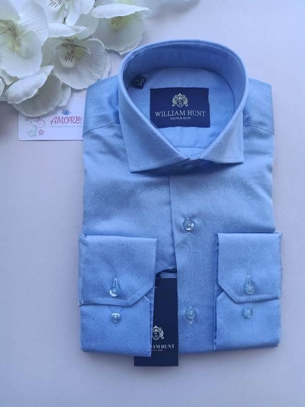 Blue white floral shirt