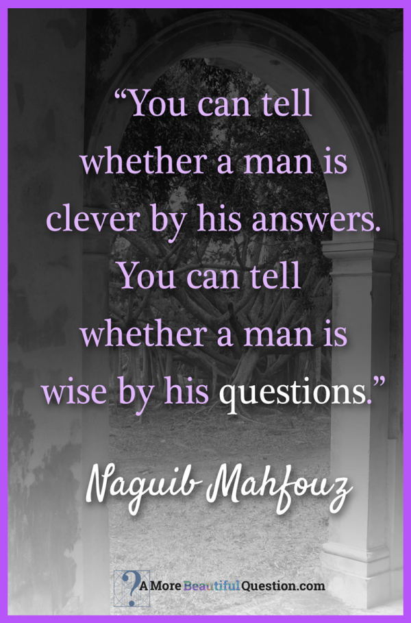 Quotes About Questioning A More Beautiful Question by