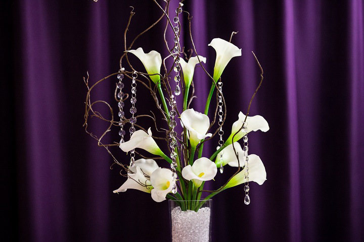 Calla Lily with Branches Centerpiece Rental (1)