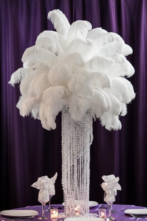 ostrich feather centerpiece rental weddings sweet 16 new jersey