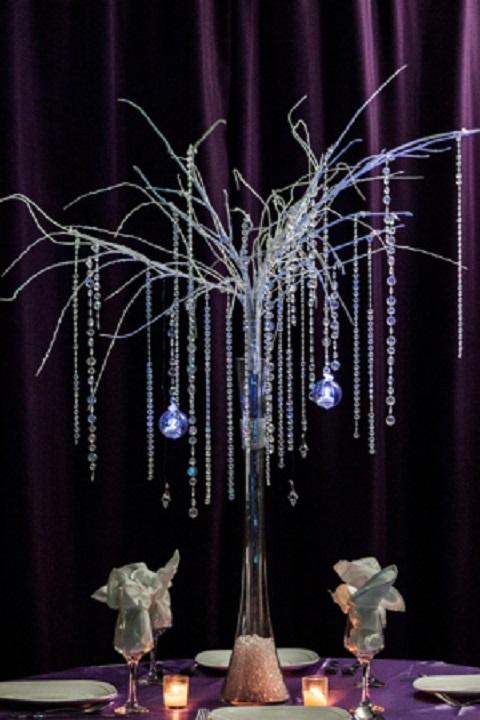 Winter Tree Centerpiece Rental