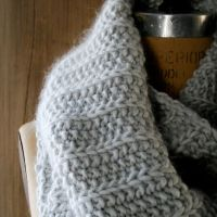 Ancora scaldacollo a maglia (pattern free)