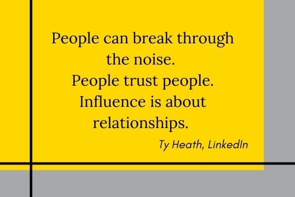 quote by Ty Heath - blogging and influencer marketing