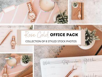 Office Stock Photos Rose Gold Set Flatlay