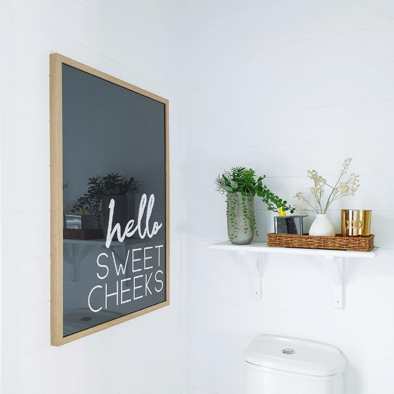 Hello Sweet Cheeks Poster Printable Wall Art