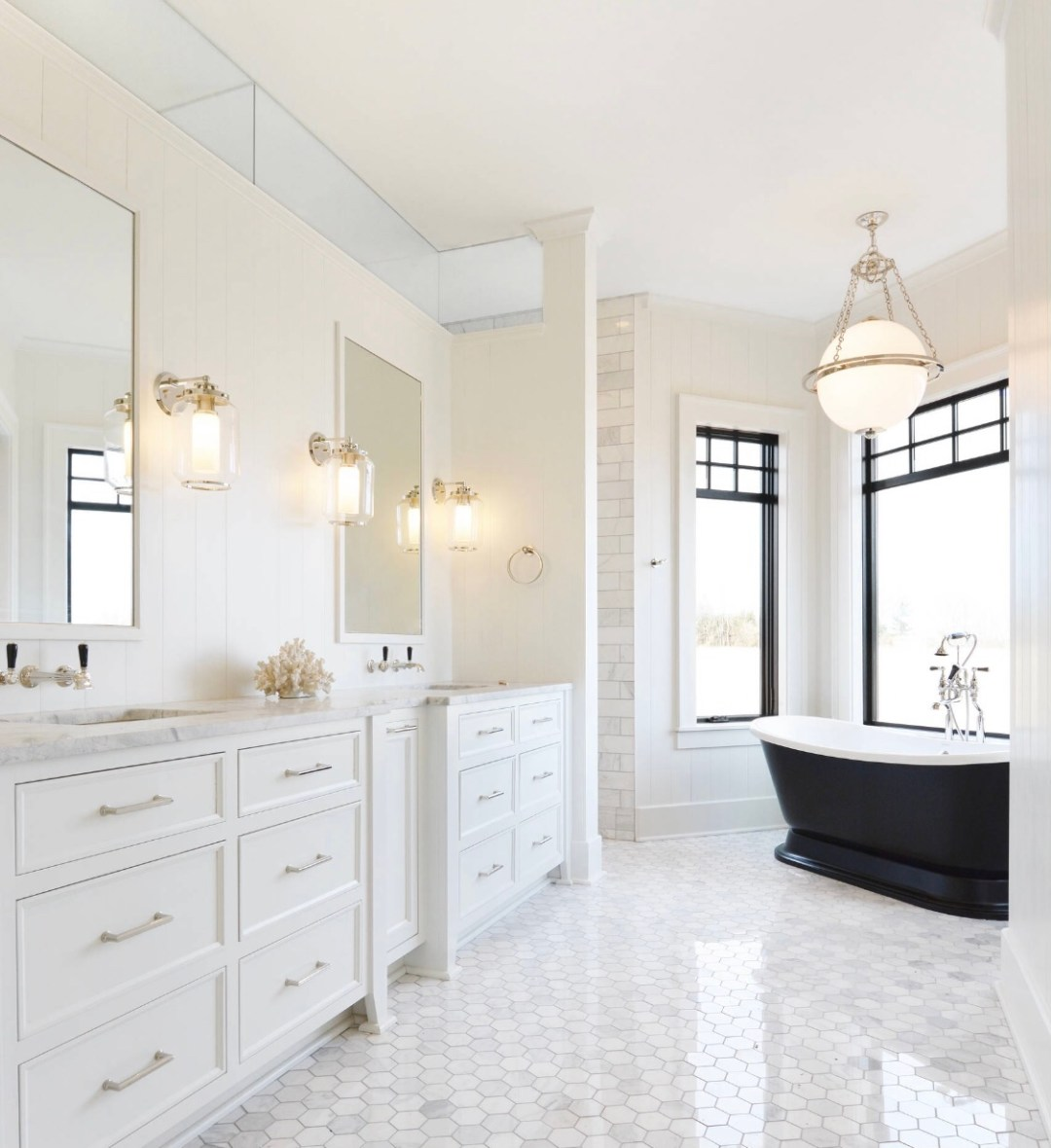 Bathroom lighting is all about a well lit vanity